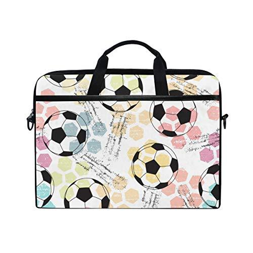Ahomy Fußball 35,6-14,5 Zoll Multifunktionale Stofftasche Wasserdicht Laptop Tasche Aktentasche Schultertasche Messenger Bag