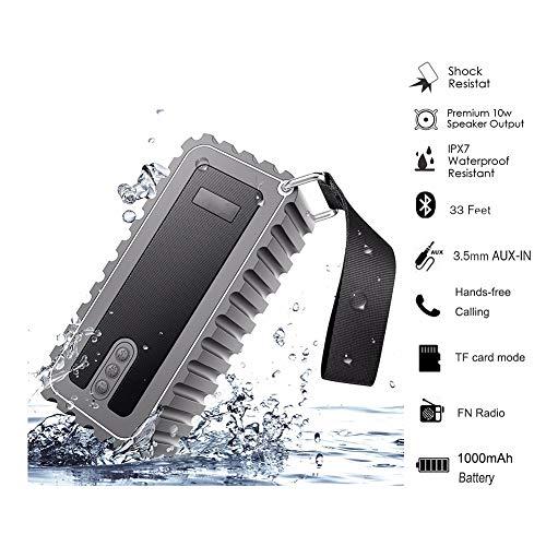 QLPP Altavoz inalámbrico Bluetooth con Built-in-Mic IP67 clasificado Totalmente Sumergible Choque, Agua, Polvo y a Prueba de arañazos 6W Potencia con 6-8 Horas de Tiempo de Juego