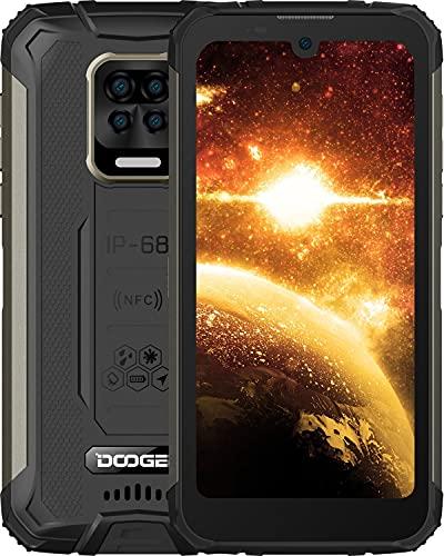 DOOGEE S59 Móvil, [2021] 10050mAh 4GB RAM+64GB ROM, IP68 IP69K Movil Antigolpes, Potente Altavoz 2 W, Cámara Cuádruple 16MP+Cámara Frontal 16MP Smartphone Android 10 4G, 5.71', NFC/GPS, Negro