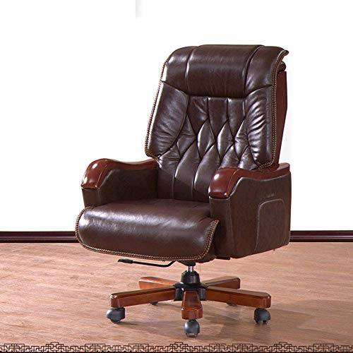FACAIA High-End Boss Executive Chair, Computer Chair Office Home Top Chair Reclining Chair 360 Degree Swivel Adjustable Seat Height Managerial Chairs Recliner