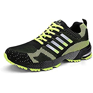 Customer reviews HMIYA Women Men Casual Sports Running Shoes Air Trainers Jogging Fitness Shock Absorbing Gym Athletic Sneakers(Green,Size 7.5):Donald-trump