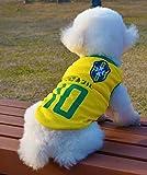 VIO WM-Team Kleidung Haustier Baumwolle atmungsaktiv Französisch Team Hund Weste!,Brasilien,XS
