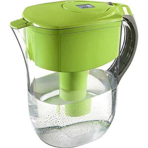 Brita Grand Water Filter Pitcher, Green, Large 10 Cup, 1 Count