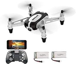 GoolRC T700 Mini Drone RC WiFi FPV 3D Flips Cámara 720P HD Camara Selfie Drone Quadcopter Altitude Hold G-Sensor 2 Baterías para Principiantes Niños