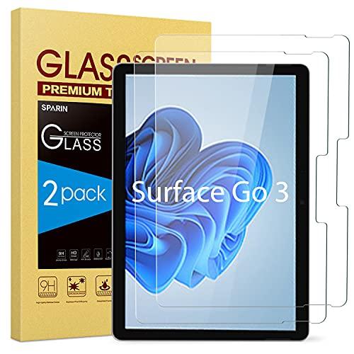 SPARIN 2 Stück Panzerglas Schutzfolie Kompatibel mit Microsoft Surface Go 3 / Surface Go 2 & Surface Go, Hohe reaktionsschnelle, kratzfest, Glas Panzerfolie Bildschirmschutzfolie