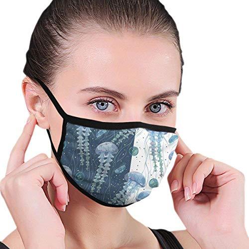 Atmungsaktive Staub Half Face Mode Kostüm Farbe Quallen Wasserpflanzen
