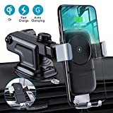 VANMASS Wireless Car Charger, 10W Fast Charging Gravity Car Mount, Air Vent Windshield Dashboard Phone Holder Compatible with iPhone Xs MAX/XS/XR/X/8/8+, Samsung S10/S10+/S9/S9+/S8/S8+/S7, Pixel/LG