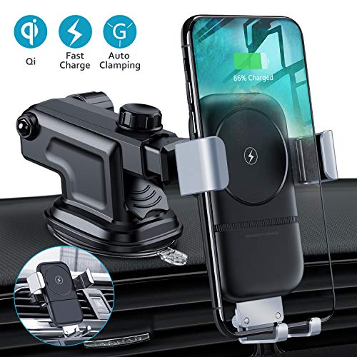 VANMASS Qi Fast Wireless Car Charger for Samsung Galaxy