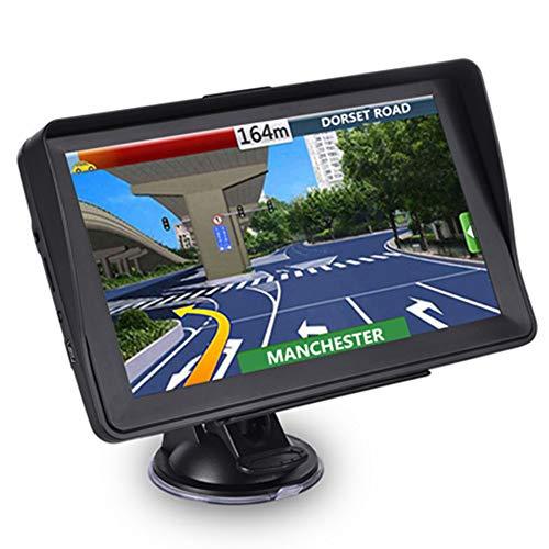 Aonerex Navigationssystem mit Sonnenschutz für Auto, LKW, Wohnmobil, 17,78 cm (7 Zoll) Touchscreen 8 GB, 256 MB, Satelliten-Navigator mit 2020 GB und EU Karten, lebenslange Karten-Updates
