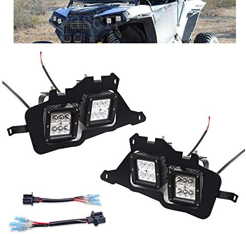 Headlight Fog Light Mount Brackets Dasen 4x 18W LED Work Headlights Compatible with 2014 2020 product image