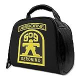 li US Army 509th Geronimo Airborne Insulated Bag Lunch Bag Lonchera con aislamiento Bolsa Tote Bag Cooler Bag for Picnic Work