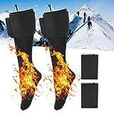Hombres Mujeres Calcetines de batería Calcetines eléctricos recargables, Kit de calcetines con aislamiento térmico, Calcetines térmicos de invierno para esquiar, andar en bicicleta, cazar