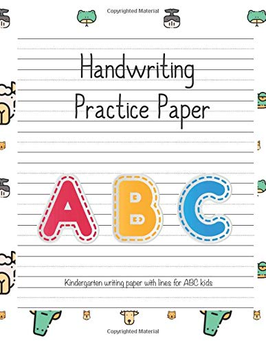Kindergarten writing paper with lines for ABC kids: Writing Paper for kids with Dotted Lined | 105 pages 8.5x11 Handwriting Paper  12