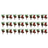 ABOOFAN - 30 púas artificiales de madera de pino para manualidades de Navidad, arreglos de flores, coronas navideñas, decoraciones navideñas