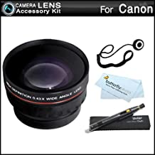 Wide Angle Lens Kit for Canon VIXIA HF R82, HF R80, HF R800, HF R700, HF R72, HF R70 Camcorder Includes High Definition .43x Wide Angle Lens W/Macro + LensPen Cleaning Kit + Lens Cap Keeper + More