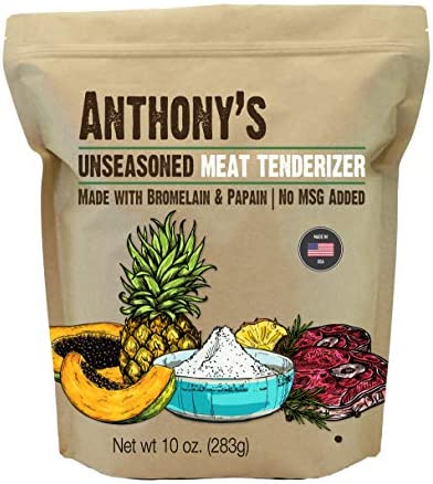 Anthony s Unseasoned Meat Tenderizer with Bromelain and Papain 10oz Made in USA No MSG added product image