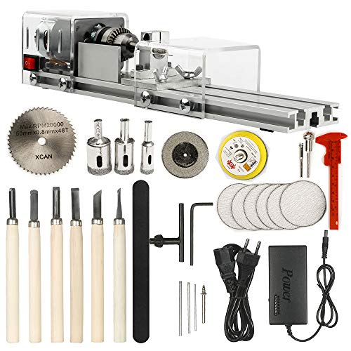 Read About OPHIR Mini Wood Lathe Milling Machine DIY Wood Working CNC Mini Wood Lathe Tools 100W 24V