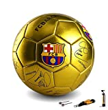 NTS 5# Un Ballon de Football chargé en Or/Argent/Rouge FCB Barcelona Memorial Stadium. (Or)