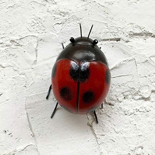 Darthome Ltd 3D Ladybird Bug Summer Home Garden Fence Gate Decoration Wall Art Ornament Gift 10cm