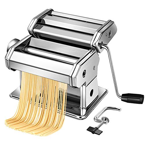 Acymztu Pasta Maker Machine Hand Crank - Roller Cutter Noodle Makers Best...