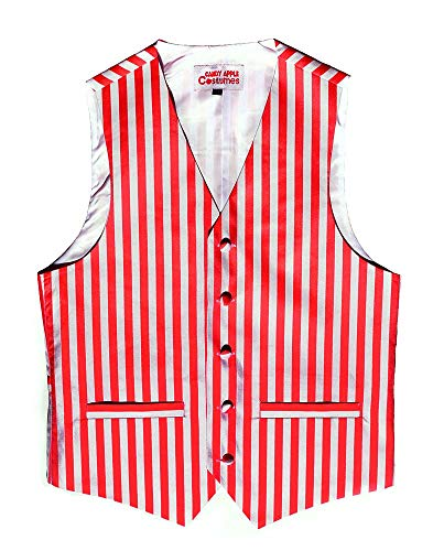 Candy Apple Costumes Adult Red/White Striped Vest (Small)