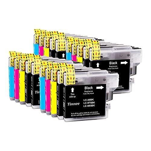 Tinnee LC985XL Cartuchos de tinta, compatible con LC-985 LC985 LC65 LC-985BK LC65BK Cartuchos de repuesto, para Brother MFC-495CW MFC-J410W DCP-J125 J315W J515W J140W MFC-J265W J410 J415W J220