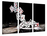 Cuadro Fotográfico Juego de Mesa, Torre de Cartas Poker, Casino, Tamaño total: 97 x 62 cm XXL
