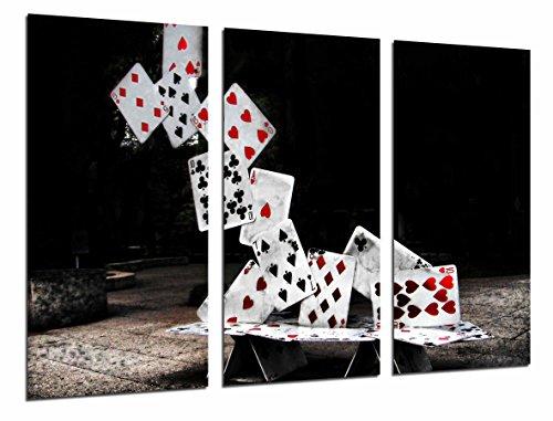 Poster Fotográfico Juego de Mesa, Torre de Cartas Poker, Casino, Tamaño total: 97 x 62 cm XXL