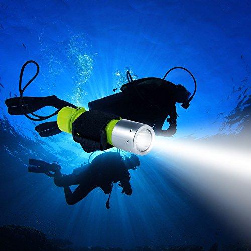 Samoleus Professionale 1100 Lumen XM-L2 LED Torcia Illuminazione Subacquea Immersioni Torcia...