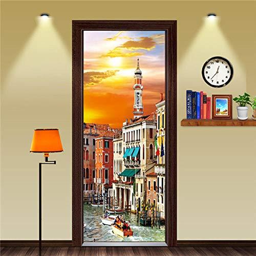 Cooldeerydm gepersonaliseerde grootte stijl verschillende politie giraffe saxofoon deurplaat PVC waterdicht zelfklevend behang slaapkamer 77 x 200 cm