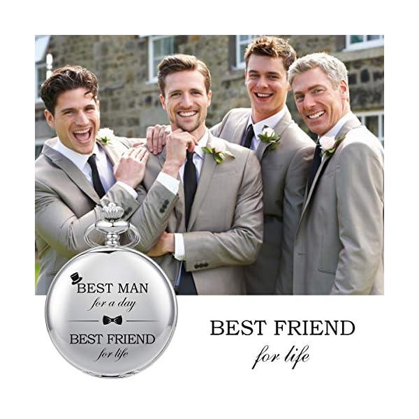SIBOSUN Best Man for Wedding or Proposal – Engraved Best Man Pocket Watch – Wedding