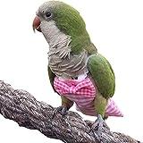HEZHUO Pañales para loros, trajes de vuelo de pájaros, trajes de pájaro, pañales impermeables reutilizables y reutilizables, suministros para pájaros (XL, rosa)