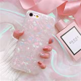 BOFTALE Cute Case for iPhone 7 / iPhone 8, Girls Women Glitter Translucent Shell Pattern Design Clear Slim Soft Silicone Rubber TPU Phone Case Cover Compatible with iPhone 8/7(Colorful)