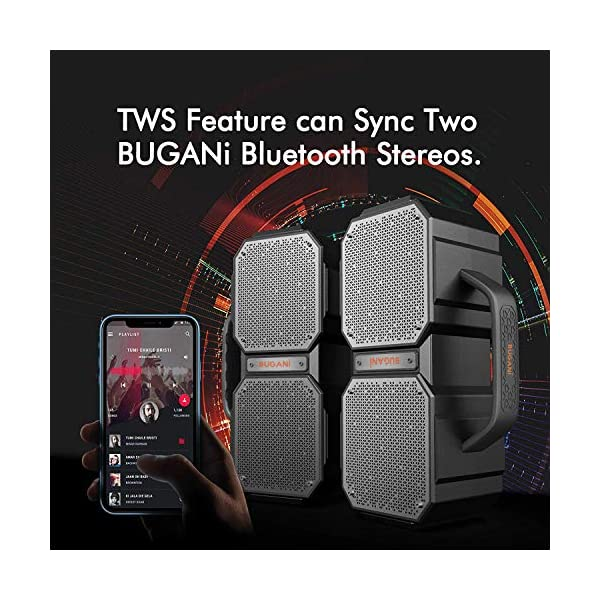Bluetooth Speakers, M83 Portable Bluetooth Speakers 5.0, 40W Super Power, Rich Woofer, Stereo Loud. Suitable for Family Gatherings and Outdoor Travel. (Black) 5