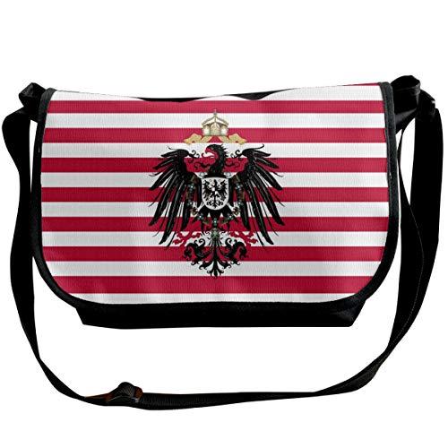 German American Naval Strips Flag Shoulder Crossbody Bag for Men Women Messenger Bag Fashion Satchel Bag for Shopping, Student Study, Business