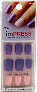 Kiss Impress Press-On Nails One Step Gel Bright As Feather (3 Pack)