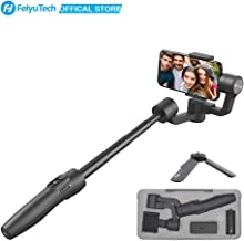 FeiyuTech Vimble 2 Handheld 3-Axis Gimbal Stabilizer Built-in Extension Pole for iPhone X 8 7 Plus,Samsung,Huawei,and Other Smartphones,Dark Black