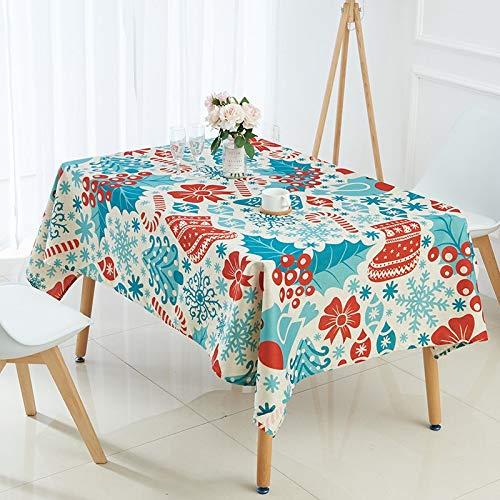 XXDD Table Cloth elk Snowman Tree Christmas Tablecloth manteles para Mesa rectangulares en Tela decoracao para casa Table Cover A9 135x160cm