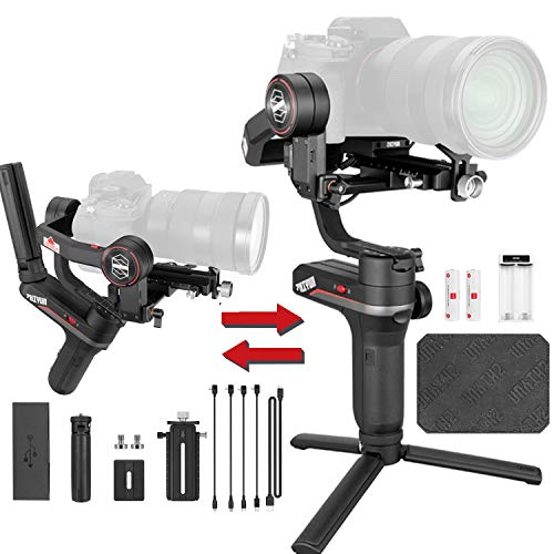 Zhiyun Weebill S 3-Axis Handheld Gimbal Stabilizer DSLR Gimbal for Mirrorless and DSLR Cameras for Canon 5DIV 5DIII EOS R Sony A7M3 A7R3 A7 III A9 Panasonic S1 GH5s Nikon Z6, Improved Motor