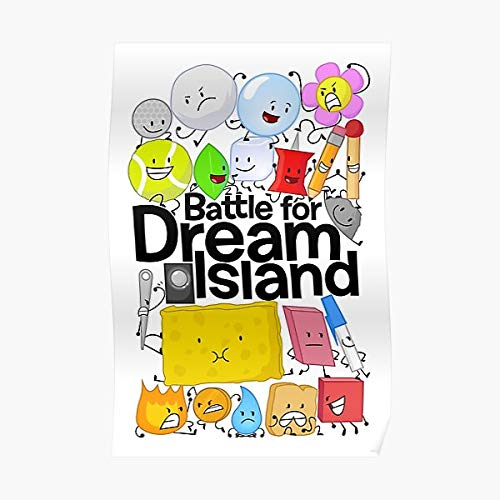 Bfdi Battle for Dream Island Poster White Poster Wall Art Print Poster Canvas Gallery Wraps Wall Decoration