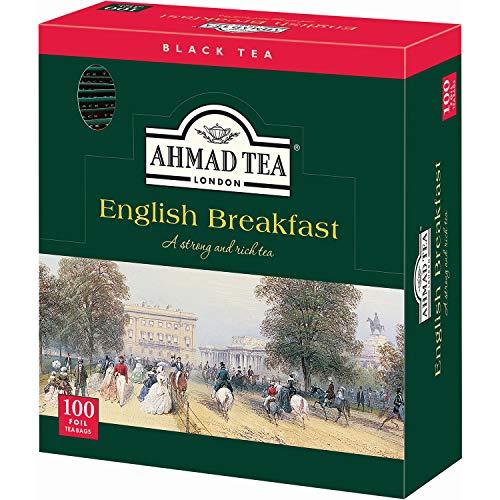 Ahmad Tea - English Breakfast | Schwarztee-Mischung | 100 Teebeutel á 2 g mit Band und aromaversiegelt in Folie verpackt