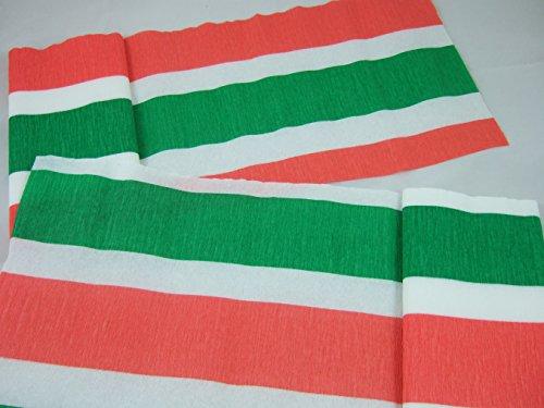 6 Rouge, blanc, se drapeau Papier crépon Vert 3 m x 24,4 cm (9,5 cm) et plus lourd que les valeurs en crêpe flamme retardant. de nombreuses utilisations comme décorations, de nouveaux outils de commercialisation, grand classique avec les écoles et les manuels de l'industrie