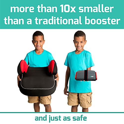 mifold Original grab-and-go Car Booster Seat, Slate Gray, Compact and Portable Booster for Travel, Carpooling and More, Foldable Child Booster Seat Fits into Glove Box and Backpack, Slate Grey