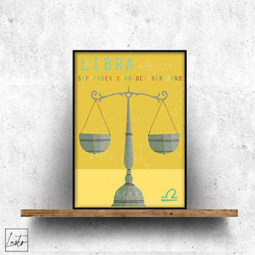 Geanimeerde Weegschaal Ster Muur Print - Slaapkamer/Modern Wall Art Picture Poster Home Decor Poster - Klein, Medium en Grote Kunstwerken in Meerdere Maten 8