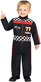Boy's Race Car Driver Jumpsuit Funny Theme Party Toddler Halloween Costume