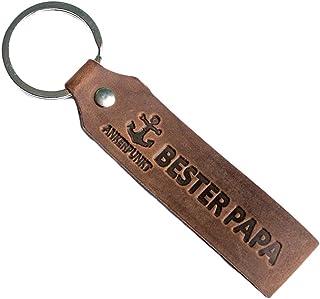 ANKERPUNKT Schlüsselanhänger Leder mit Gravur Bester Papa - Vatertagsgeschenk - Geschenke für Papa - Geschenkidee zum Gebu...