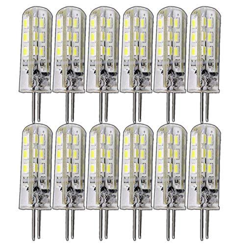12x G4 1,5-2,0 Watt dimmbar 12V DC oder 12V AC/DC warmweiß 3000K für Dimmer geeignet Stiftsockel 360° Leuchtmittel Lampensockel Spot Halogenersatz Lampe 10W / 20W Halogenersatz (12x 1,5W / 12V DC)