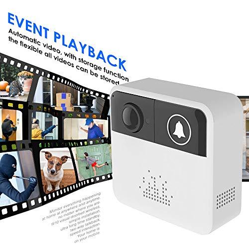 Intelligente deurbel, thuis Wifi visuele ring camera deurbel draadloze HD nachtzicht beveiligingssysteem automatisering module-met Dingdong machine
