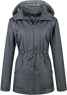Women Rain Jackets Waterproof Lightweight Raincoat Outdoor Active Windbreaker with Hood