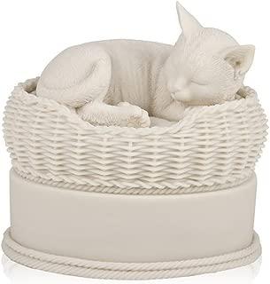 white cat urn